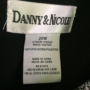 Danny & Nicole Dresses - Women's Black and White Dress Suit